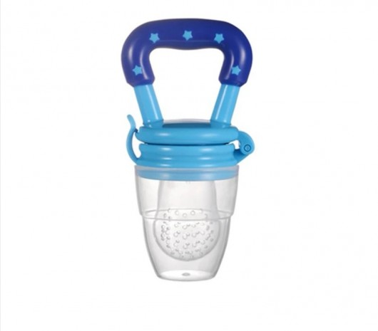 NIPPLE FRUIT BITE SILICONE TEETHERS BPA FREE - BLUE - MOM1wq0