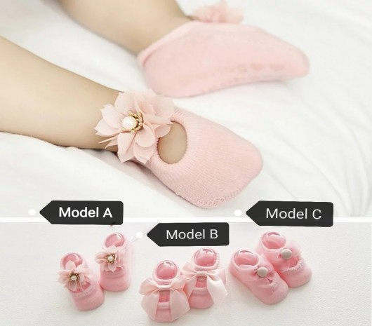 Princess Lace Socks - Pink - Model C - MOMglb6