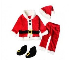 Santa Baby outfit with cap and shoes - MOM0f9q