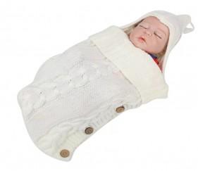 Warm sleeping bag or stroller wrap - Button knit - MOM63nv