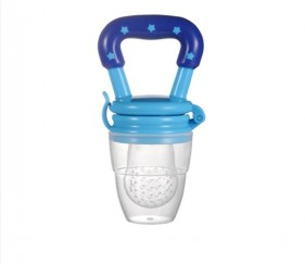 NIPPLE FRUIT BITE SILICONE TEETHERS BPA FREE - BLUE - MOM1wq0