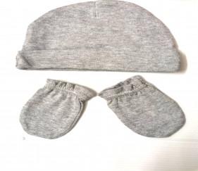 Newborn cap and gloves set - MOMxto7