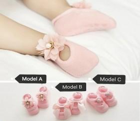 Princess Lace Socks - Pink - Model A - MOMe89l