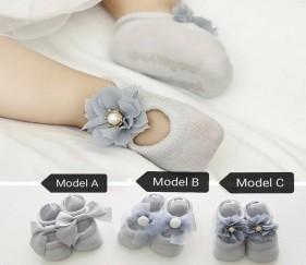 Princess Lace Socks - Grey - Model A - MOM99ls