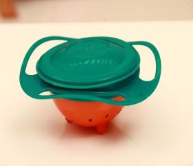 Gyro Umbrella Bowls 360 Rotate Spill-Proof Bowl - Green - MOMlu9y