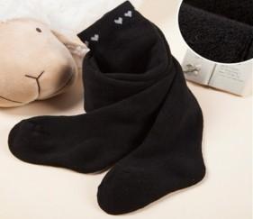 Heart Baby Stockings Black - MOMl2oo