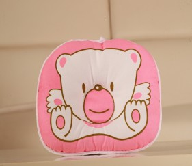 Cute Teddy Bear print Pillow - Pink - MOMz3j0