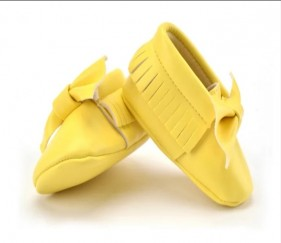 Trendy Tassels Yellow Shoes with bow knot - MOM62em