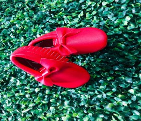 Trendy Tassels Red Shoes with bow knot - MOMe69w