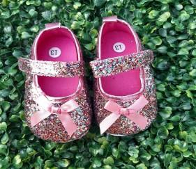 Pink Bow Partywear Shoes - MOMl3kk