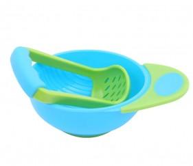 Food mash and serve bowl (blue green) - MOMt02z