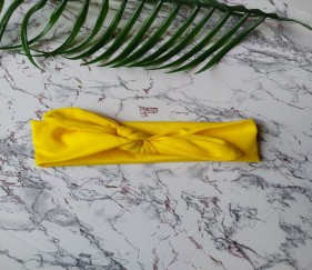 Cotton Hairbow Yellow - MOM0xo6