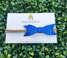 Glitter Bow Nylon (blue) - MOM0m9a