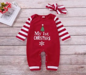 Baby Christmas Dress with bow - MOM967l