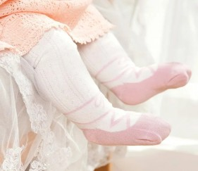 Knitted Baby Stockings Pink - MOMzhy1