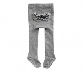 Baby Stockings with Lace - Grey - MOM08mc