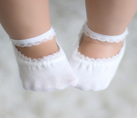 Anti Slip Lace Socks  with rubber soles - MOM9cjg
