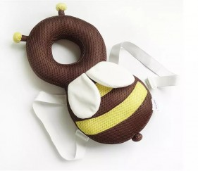 Baby head and back protector pillow - bumble bee - MOMr6zm