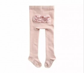 Baby Stockings with Lace - Pink - MOM7ouh
